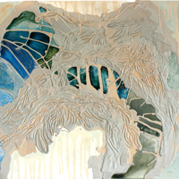 Icestorm, 2005, encaustic and urethane on panel, 32 x 30 inches